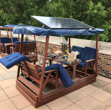 Solar Benches Installation